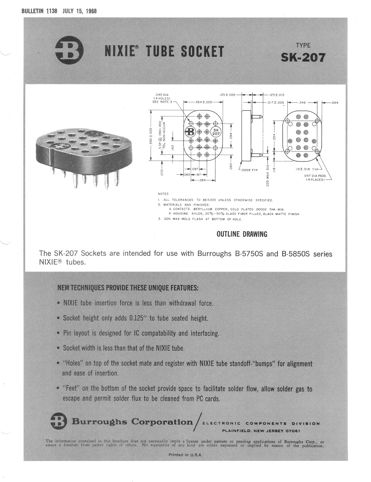 Nixie tube data from Cathode Corner